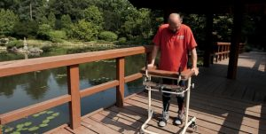 Polish patient Darek was severely injured when he was stabbed in an attack. He was left paralysed from the chest down, with complete spinal cord transection. Following the experimental treatment, Darek is now able to walk with a frame and has recovered lower limb sensation. He is continuing to improve further than predicted; he is able to drive and live more independently.