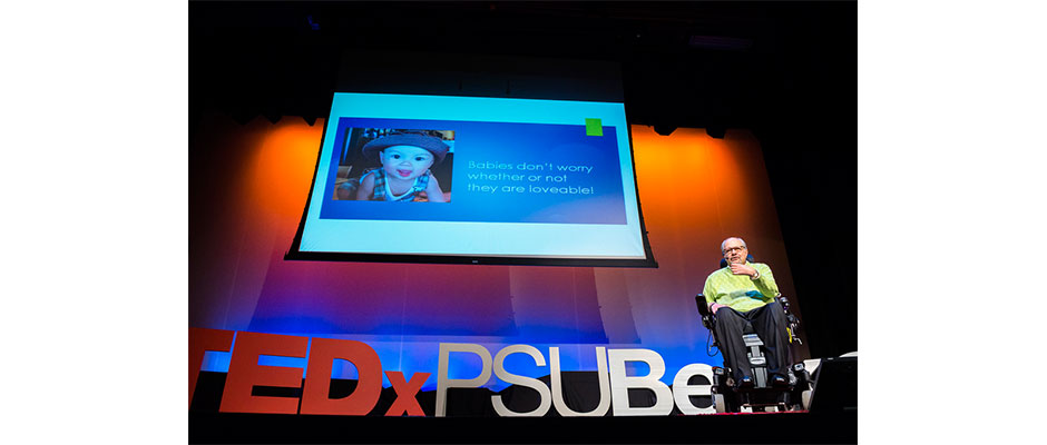 Dan Gottlieb during his TEDxPSU Berks talk November 14.