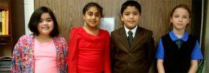Highland Park Elementary School fourth graders who interviewed Dan Gottlieb recently.