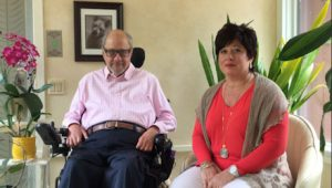 Dr. Dan Gottlieb, left, with Roseann Vannella of FamilyAffaires.com