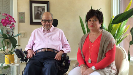 Dr. Dan Gottlieb, left, with Roseann Vannella of FamilyAffaires.com
